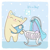 Baby boy shower card. Stock Images