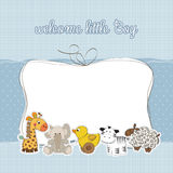 Baby boy shower card. New baby boy shower card Royalty Free Stock Photo