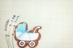 Free Baby Boy Shower Card. Arrival Card With Place For Your Text. Royalty Free Stock Photo - 69230285
