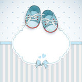 Baby boy shower card Royalty Free Stock Images
