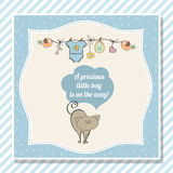 Baby boy shower card with little cat Royalty Free Stock Photos