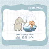Baby boy shower card. Vector eps10 Stock Images