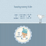 Baby boy shower card. Vector eps10 Stock Photos