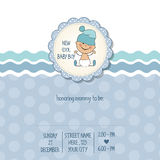 Baby boy shower card Stock Photo