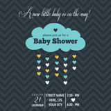 Baby boy shower card Stock Photos