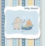 Baby boy shower card Royalty Free Stock Photos