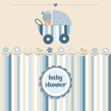 Baby boy shower card vector illustration