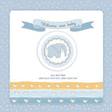 Baby boy shower invitation Royalty Free Stock Photo