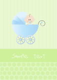Baby boy shower invitation card Stock Images