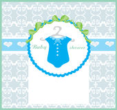 Baby boy shower invitation Royalty Free Stock Images