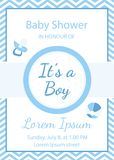 Baby Boy Shower Invitation, It`s A Boy Stock Images
