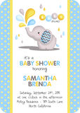 Baby boy shower invitation Stock Images