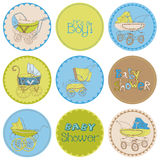 Baby Boy Shower Party Set Stock Photo