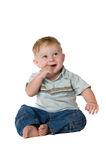 Baby Boy Sitting Royalty Free Stock Images