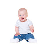 Baby boy sitting Royalty Free Stock Photography