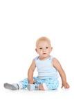 Baby boy sitting Stock Photos
