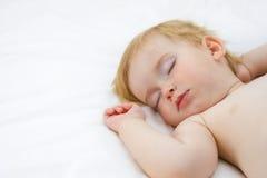 Baby boy sleeping royalty free stock photo