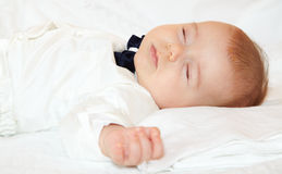 Baby boy sleeping Stock Photos