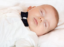 Baby boy sleeping Royalty Free Stock Image