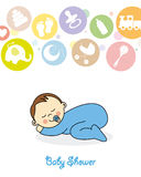 Baby boy sleeping Stock Images