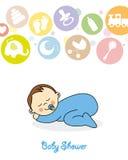 baby boy sleeping Stock Images