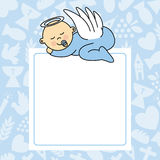 Baby boy sleeping. Blank space for photo or text Stock Photo