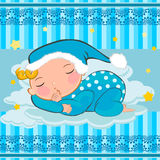 Baby boy sleeping Royalty Free Stock Images