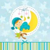 Baby boy sleeping royalty free illustration