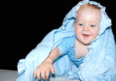 Baby boy smiles Stock Images