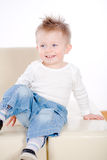 Baby boy smiling Stock Photos