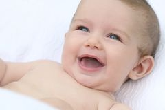 Baby Boy Smiling Stock Image