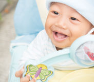 Baby boy smiling Stock Images