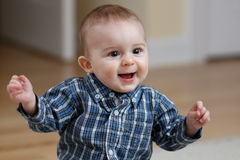 Baby boy snapping fingers Royalty Free Stock Photo
