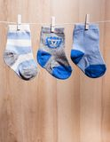 Baby boy socks Stock Photography