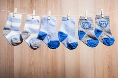Baby boy socks Royalty Free Stock Photography