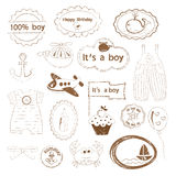 Baby boy stamps Stock Photography