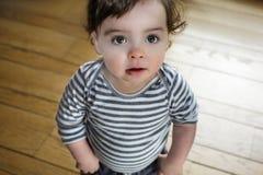 Baby Boy Standing Big Eyes Stock Photos