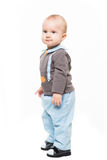 Baby boy standing isolated on white backgroung Stock Images