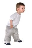 Baby boy stands Royalty Free Stock Image