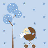 Baby Boy Stroller Stock Image