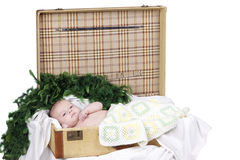 Baby boy in studio Stock Images