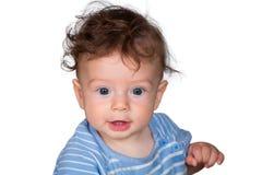 Baby boy studio portrait Royalty Free Stock Image