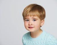 Baby boy in studio shot Stock Photos