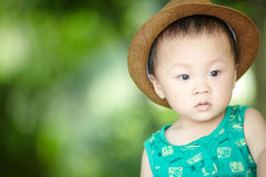 Baby boy in summer royalty free stock photography