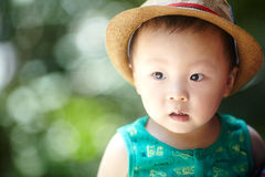 Baby boy  in summer Royalty Free Stock Photos