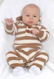 Baby boy in sweater romper Stock Image