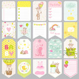 Baby Boy Tags. Baby Banners. Scrapbook Labels Royalty Free Stock Image
