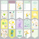 Baby Boy Tags. Baby Banners. Scrapbook Labels. Cute Cards Royalty Free Stock Photography