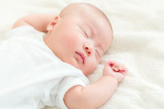 Baby boy take nap Royalty Free Stock Photography