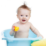 Baby boy taking bath Royalty Free Stock Photography